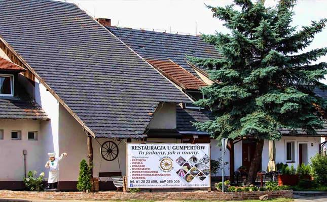 Restauracja u Gumpertów. Zajazd u Gumpertów. Blisko do nas z miejscowości: Czempiń, Mosina, Puszczykowo, Śrem, Żabno.